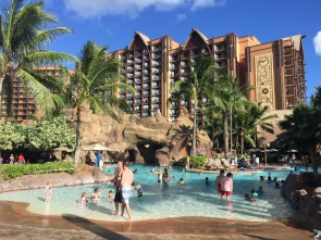 Waikolohe Pool avec ses toboggans
