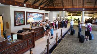 Registration & lobby area at Loews Royal Pacific Resort.